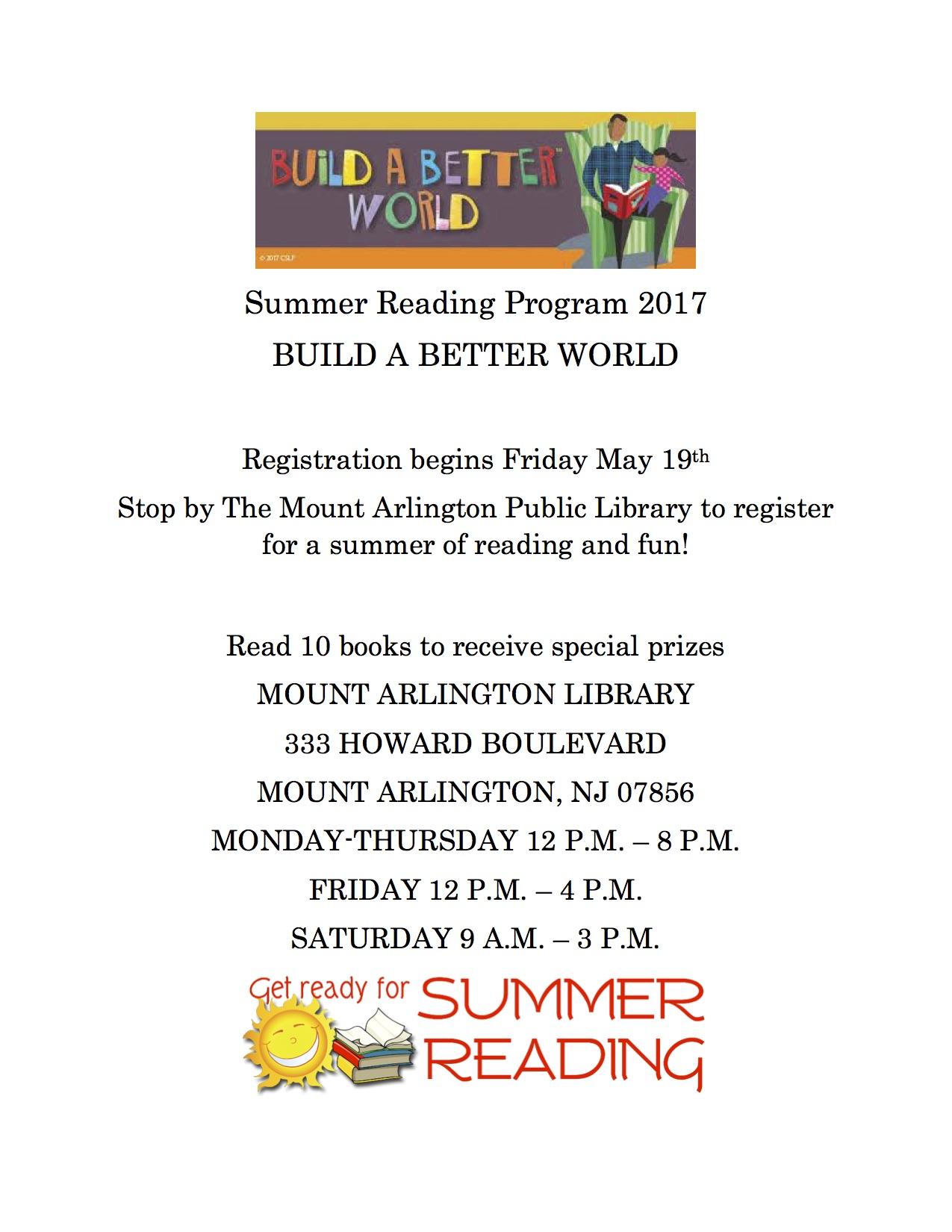 Summer Reading Program 2017